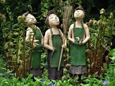 Statues, Art, Gardeners, Sculpture, Figure, Artwork