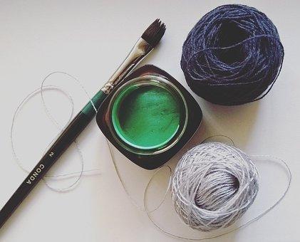 Paint, Brush, Thread, Creativity, Drawing, Handmade