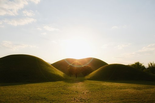 Green, Grass, Mountain, Hill, Valley, Landscape