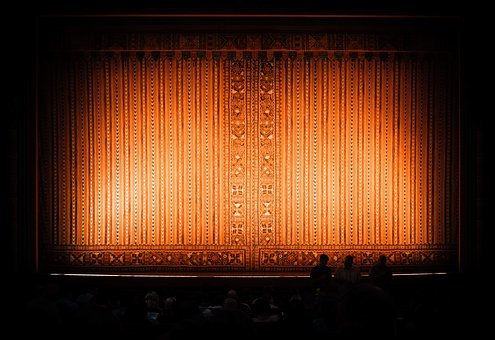 Dark, Lights, Stage, Theater, People
