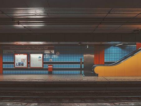 Places, Train, Station, Subway, Blue, Orange