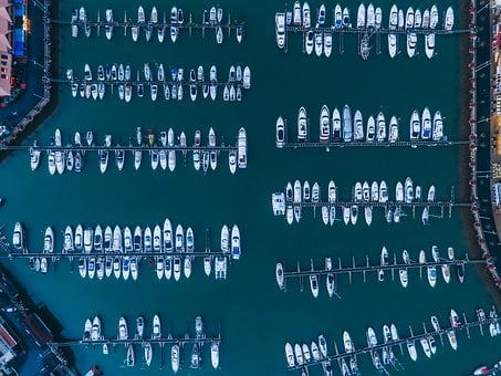 Top View, Aerial, Boat, Water, River, Roof, City, Urban
