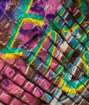 Colorful, Bricks, Wall