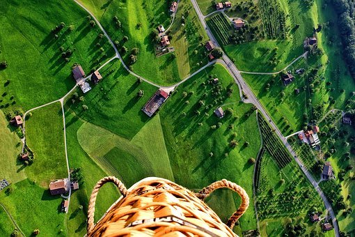 Green, Grass, Aerial, View, Trees, Plant, Nature
