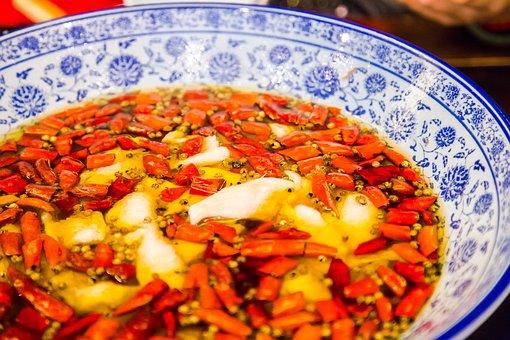 Boiled Fish Slices, Oil Splash Fish Fillets, Sichuan