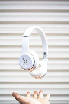 Headphones, Music, Song, Foam, White, Beats, Hand