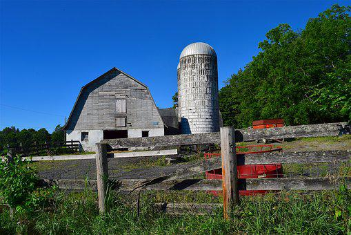 Barn, Silo, Agriculture, Rural, Farm, Farming