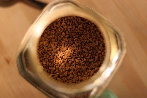 Coffee, Jar, Caffeine, Granules, Drink, Beverage