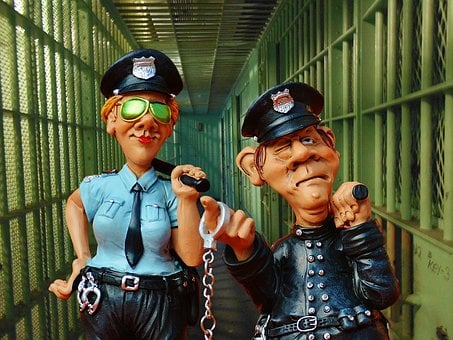Prison, Police Officer, Colleagues, Funny, Figures
