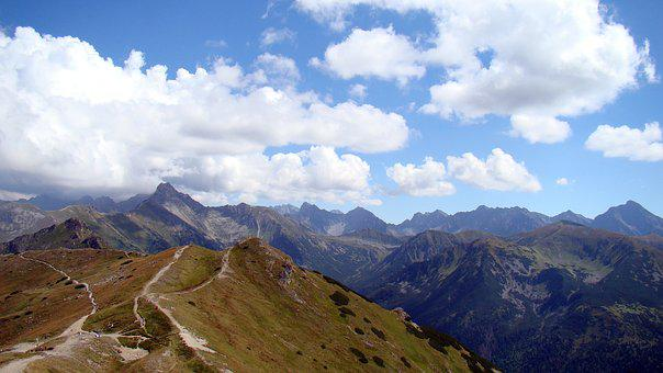 Mountains, Clouds, View, Landscape, Top View, Tatry