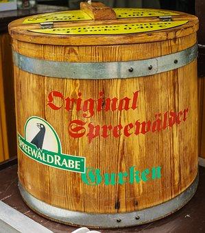 Cucumbers, Barrel, Cucumbers Barrel, Spreewald, Food