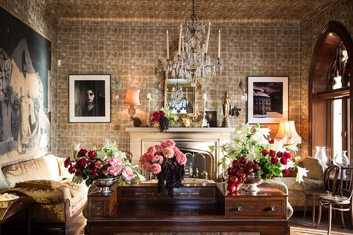 House, Interior, Design, Furniture, Flowers, Display