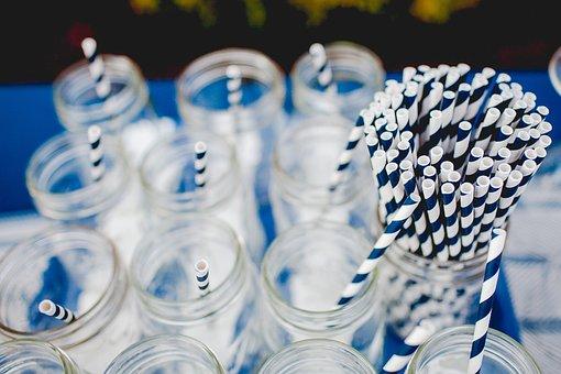Straw, Paper, Glass, Jar, Drinks, Beverage, Stripes