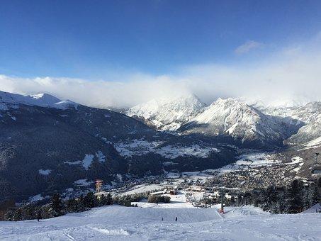 Panorama, The Alps, Stok, Mountains, Snow, Winter