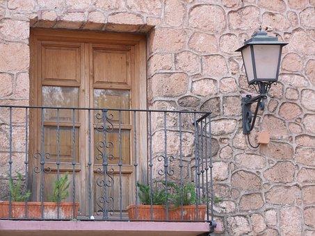 Balcony, South, Mediterranean, Railing, Spain, Home