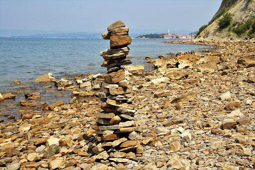 Cairn, Stone Tower, Pyramid, Stones, Even, Stow