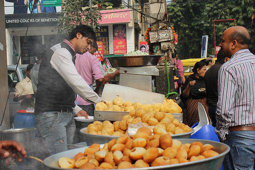 Lajpat Nagar, Delhi, India, Chat, Street Food, Bhel