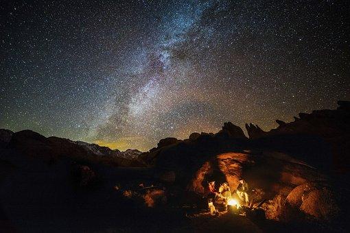 Nature, Landscape, Dark, Night, People, Outdoor, Camp