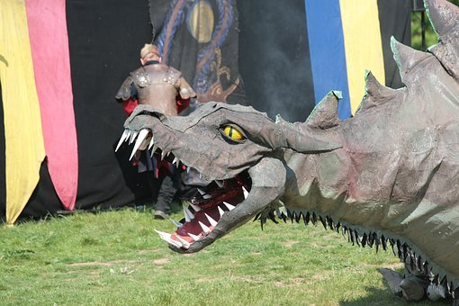Dragon, Middle Ages, Ronneburg, Hesse