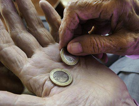 Finger, Euro, Hands, Pension, Pensioner, Pay, Coins