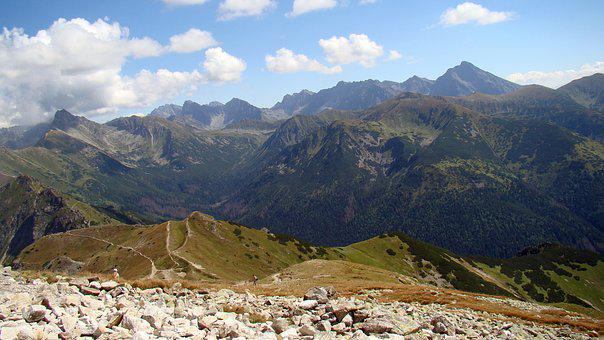 Mountains, View, Top View, Landscape, Tatry