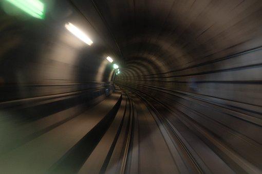 Train, Station, Rail, Trail, Dark, Lights, Motion