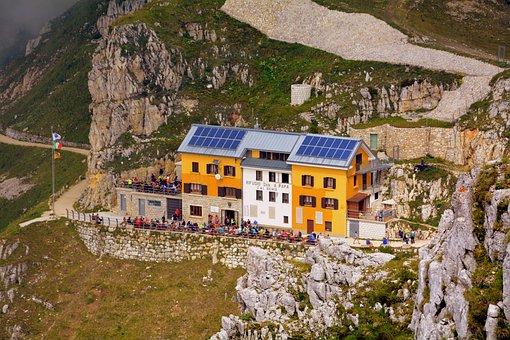 Refuge, Pasubio, Italy, Mountain, Hut The Pope