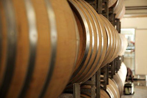 Oak Barrels, Wine, Barrel
