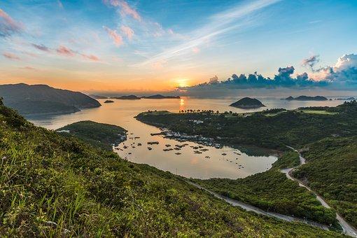 Sea, Sunrise, Morning, Sky, Views, Orange, Natural