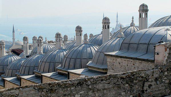 Mosque, Roof Domes, Istanbul, Turkey, Cami, Masdschid