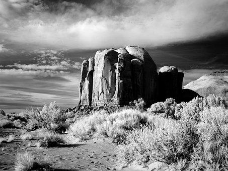 Monument Valley, Arizona, Usa, Mountain, Landscape