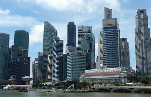Singapore, Skyline, Fullerton, Day