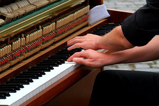 Playing The Piano, Musician, Instrument, Music, Keys