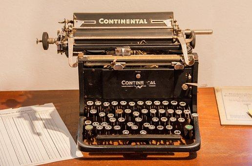 Scheib Machine, Continental, Tap, Leave, Old Typewriter
