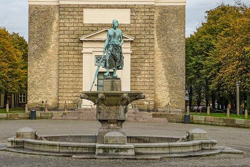 Tine-fountain, Tine, Landmark, Husum, Nordfriesland