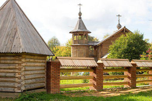 Church, Wood, Architecture, Orthodox, Christianity, Rus
