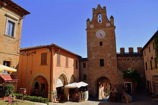 Torre, Watch, Medieval, Door, Arc, Entry, Castle