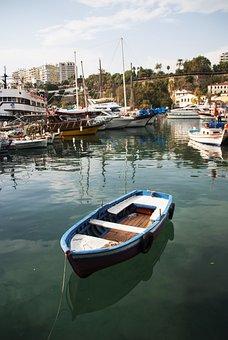Boat, Marine, Antalya, Landscape, Coastline, Peace