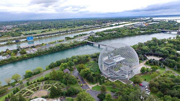 Dji, Drone, Aerial, Montreal