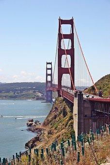 Bridge, San Francisco, Red, Usa, California, Golden