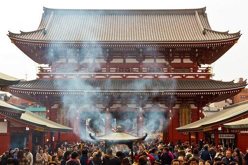 Tokyo, Shrine, Asakusa, Temple, Bu, Buddhist, Japan