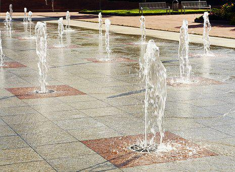 Freudenstadt, Water Feature, Fountain, Green Area, Park