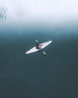 Paddle, Boat, Sailing, People, Man, Sport, Sea, Ocean