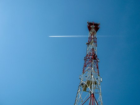 Mobile Communications, The Base Station, Sky, Plane