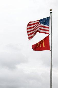 Usa, Mcdonald's, Flags, Symbols, America, Sky, National