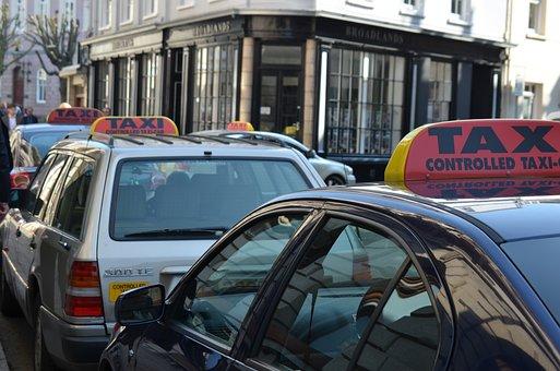 Taxi, Drivers, Transport, Sign, Car, Transportation