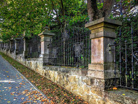 Walk, Autumn, Path, Leaves, Nature, Trees, Gates