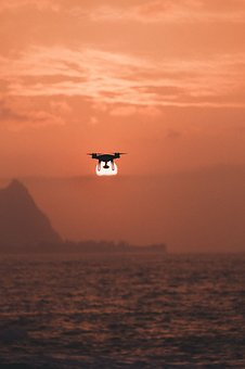 Sea, Ocean, Water, Wave, Nature, Drone, Sunset