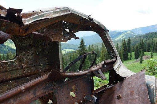 Rust, Car, Metal, Old, Vehicle, Broken, Junk, Abandoned