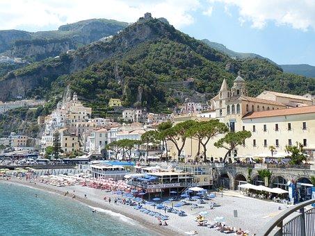 Amalfi, Italy, Amalfi Coast, Coast, Cliff